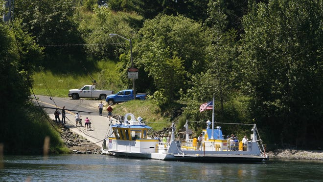 Buena Vista Park picked up a lot more boat traffic when an informal launch site on the Marion County side of the Willamette River was eliminated with the reconstruction of the Buena Vista ferry landing on the east side of the river. The new ferry is shown here during the July 6, 2011, dedication.