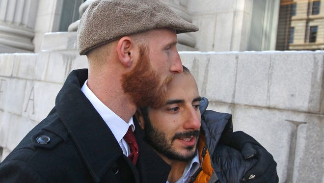 Derek Kitchen, left, and his partner, Moudi Sbeity, are among three couples who are plaintiffs in the lawsuit challenging Utah's same-sex marriage ban.