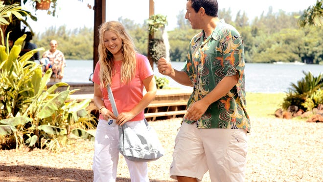 "Drew Barrymore and Adam Sandler in a scene from the motion picture ""50 First Dates,"" which will be show at Ascarate Park for Valentine's Day."
