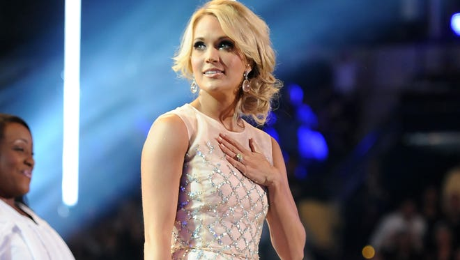 Carrie Underwood, seen here at the 2013 CMT Music Awards, had a little mishap on Thursday night.