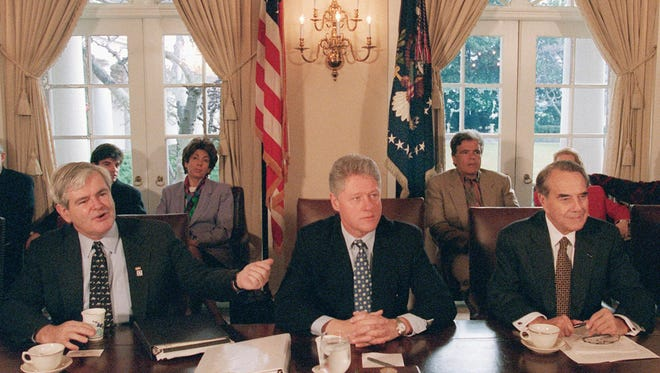 Bill Clinton was president during the last government shutdown, while Newt Gingrich was House speaker and Bob Dole the Senate majority leader.