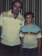 Rick Minor, around the age of 13, with his father, William Richard Minor.