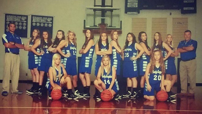 Hiwassee Dam's girls basketball team.