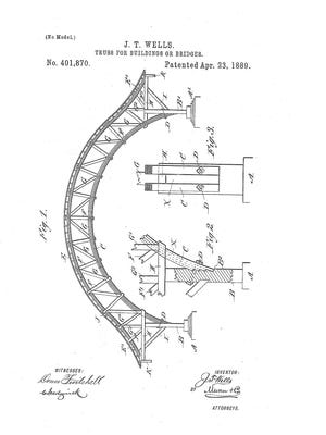 The patented arch of J.T.Wells