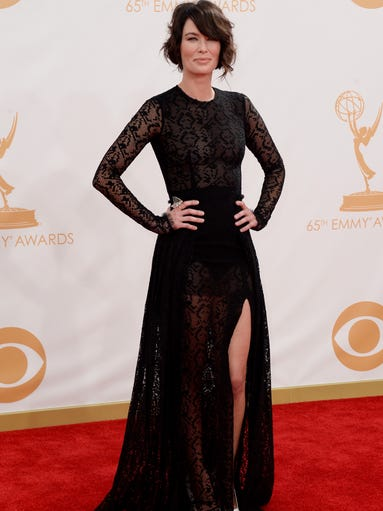 Actress Lena Headey arrives at the 65th Annual Primetime Emmy Awards held at Nokia Theatre L.A. Live on Sept. 22, 2013, in Los Angeles, Calif.