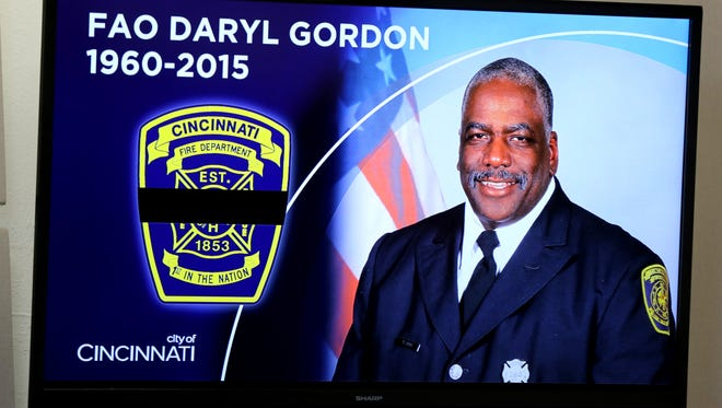 Cincinnati firefighter Daryl Gordon, a 26-year veteran, was killed Thursday morning as he searched for victims at a 4-alarm fire in Madisonville.