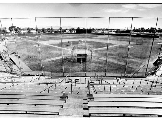 A file photo of Scottsdale Stadium in 1989.