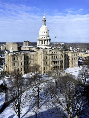 The Michigan State Capitol Building in downtown Lansing.