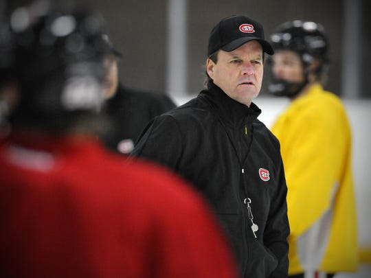 St. Cloud State University assistant coach Mike Gibbons