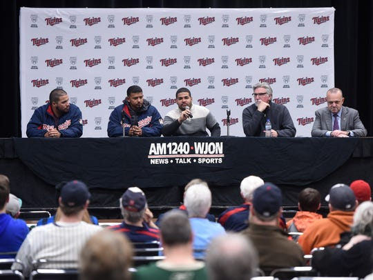 Minnesota Twins players and staff members answer questions
