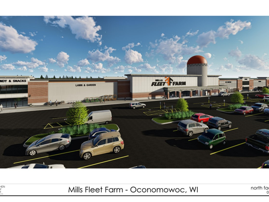 An architect's drawing shows what a proposed Mills