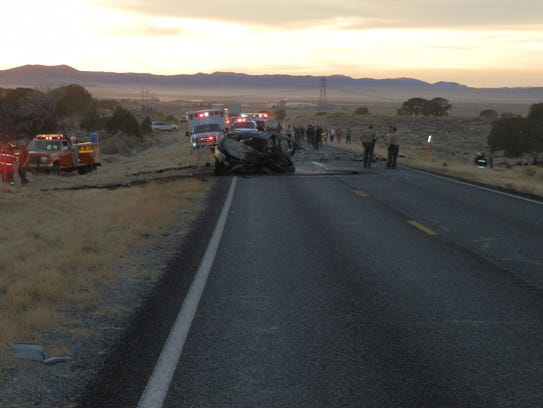 Five people were killed in a head-on collision near