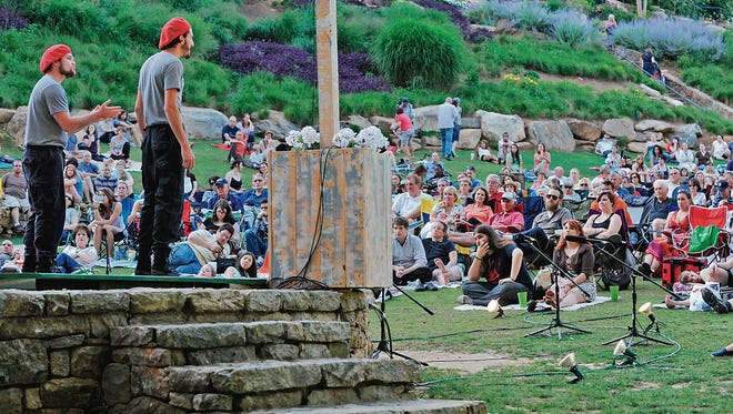 The Upstate Shakespeare Festival performs in Falls Park.