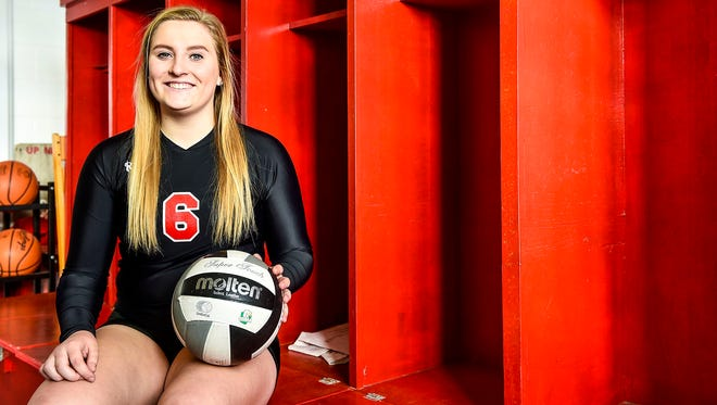 Pleasant senior Anna Schmidt, a libero on the volleyball team, was named Fahey Bank Athlete of the Month for October among girls.