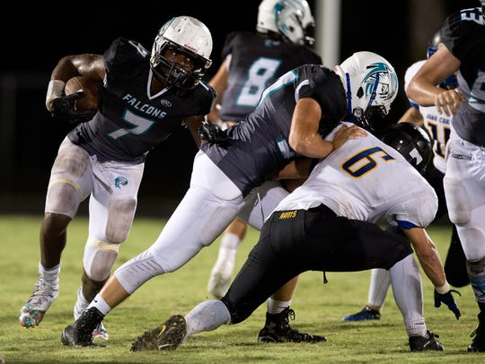 Jensen Beach's Jamien Sherwood (7) is shown during