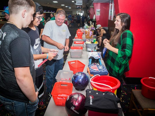 Hundreds of attendees competed in a Munsee Lanes bowling
