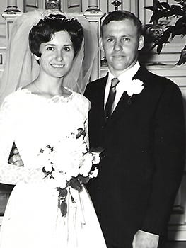 Mr. and Mrs. Joey Schroeder were married June 1, 1968.