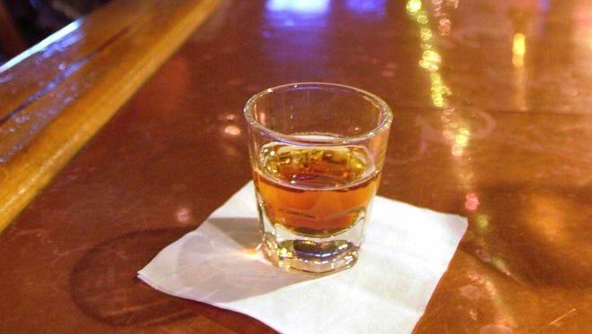 Alcoholic beverage at a bar