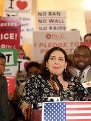 Legislator Catherine Borgia, an Ossining Democrat speaks
