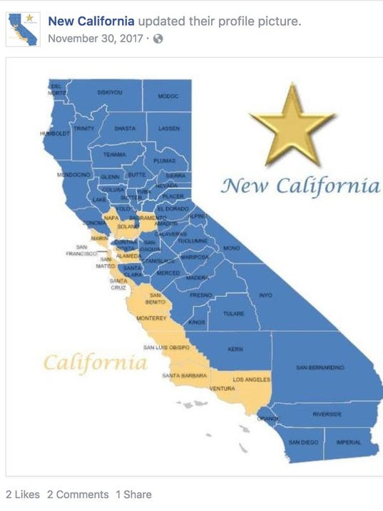New California declares independence from California in