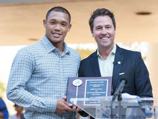 Chicago Cub and Pace High grad Addison Russell was