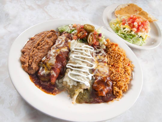 During Chuy's Elvis Birthday Bash event, customers who dress up as Elvis or Priscilla Presley can get a free entree and receive $1 off the restaurant's Elvis Memorial Combo, which is pictured.