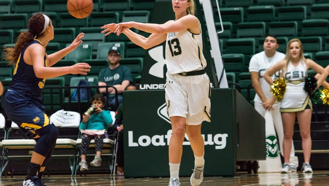 CSU women's basketball player Ellen Nystrom has been named the Colorado Sports Hall of Fame's Female College Athlete of the Year.