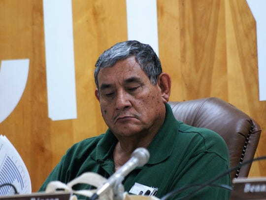 District 1 Councilor David Sanchez, pictured in November, recused himself from a vote involving a business competitor at Monday's meeting.