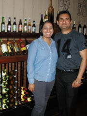 Navjot and Gurdev Singh offer an extensive selection of beer and wines - and the food to go with the beverages- at Cafe India.