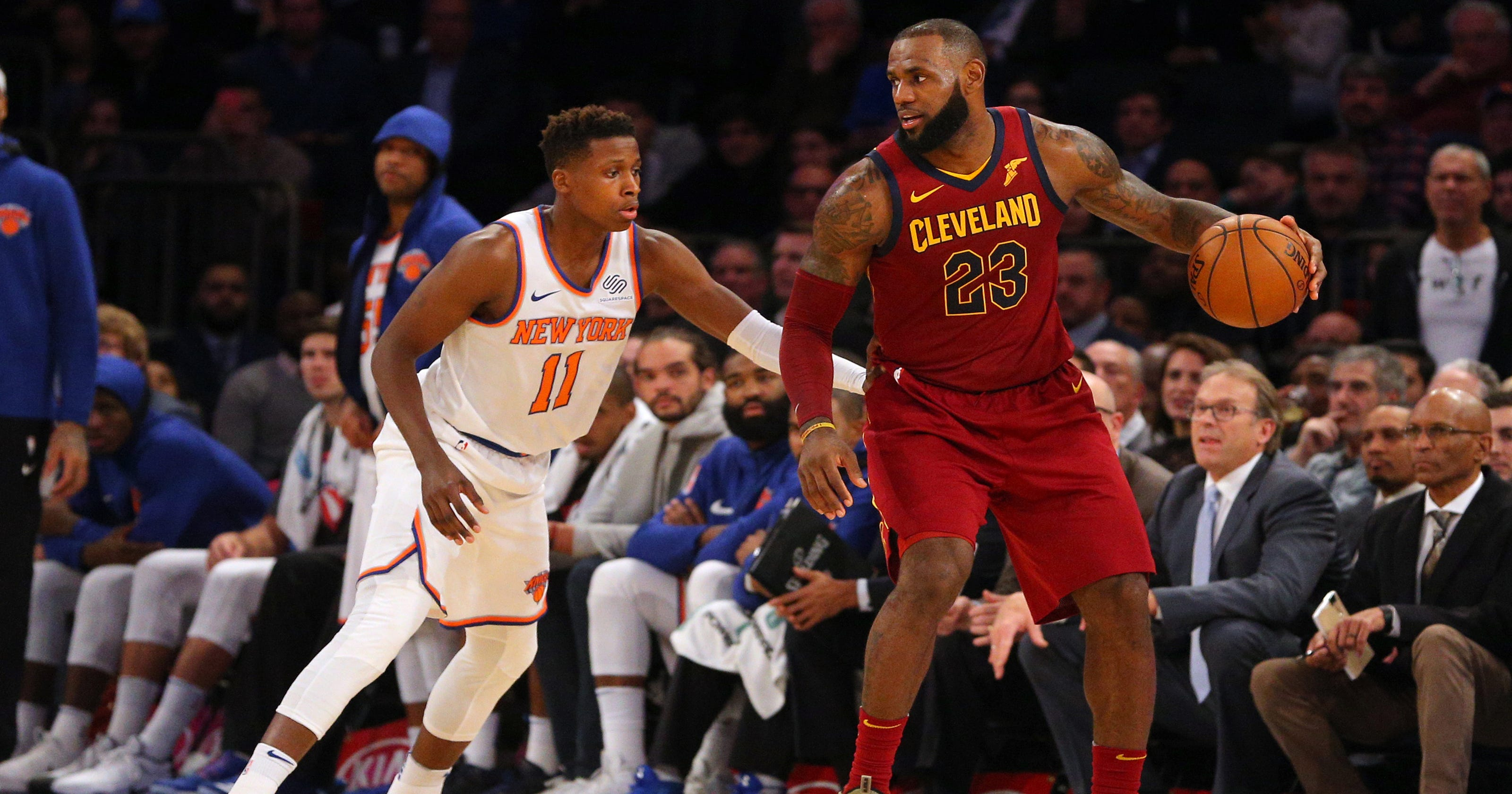 best loved a18c2 8f342 LeBron James loves the New York Knicks, at least where they play