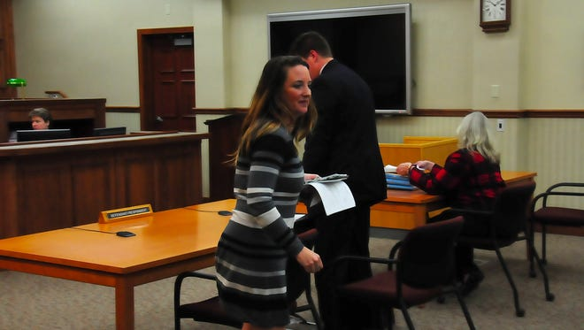 Carrie Counihan, former executive director of the Door County Humane Society, appeared in Door County Circuit Court today with her attorney Eric Wimberger for a plea hearing in her criminal case.