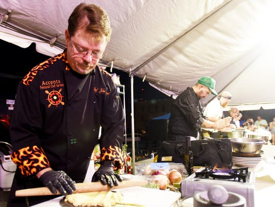 Chef John Strand at the 2017 Battle for the Golden Fork.
