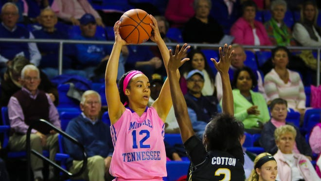 MTSU guard Brea Edwards won her fourth Conference USA Player of the Week award.