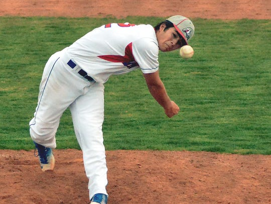 C.J. Herrera for Las Cruces High took the mound for