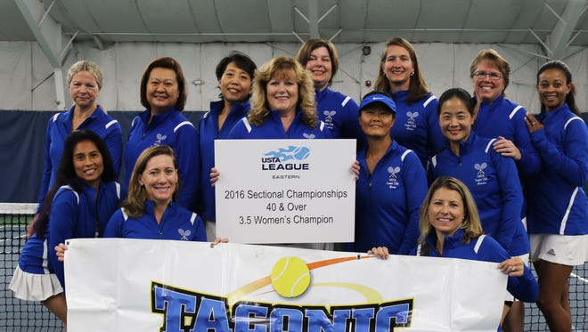 The TSR Synergy team poses at Taconic Sports and Racquet. They will be competing at nationals on Oct. 21.
