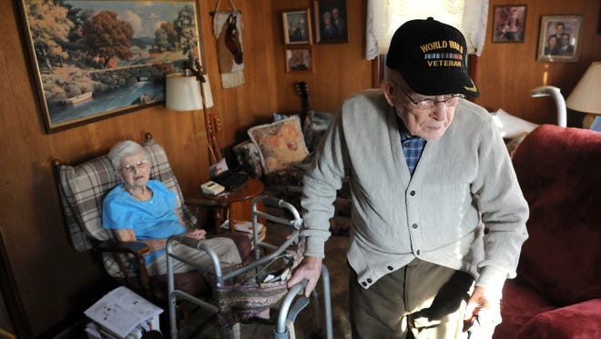 Worley Berisford, 99, of Zanesville, turns 100 years old on Tuesday. Berisford, who came to Zanesville to teach at the old Wilson School, has lived in town for more than 40 years with his wife, Virginia.