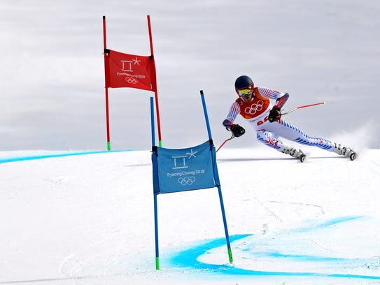 Tommy Ford (USA) competes in the men's giant slalom