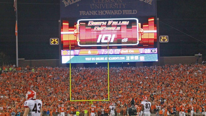Death Valley reached 101 decibels, and at times 105, during the fourth quarter against Georgia.