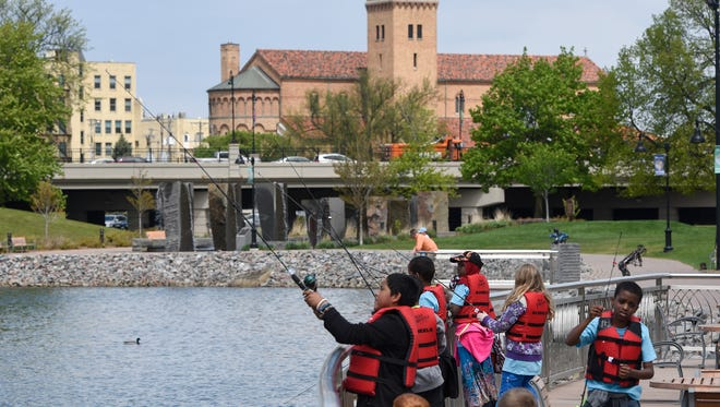 """Learning to fish is one of the activities in """"Get Movin' Mondays"""" this week from 1-3 p.m. at the Lake George Boathouse,425 East Lake Boulevard."""