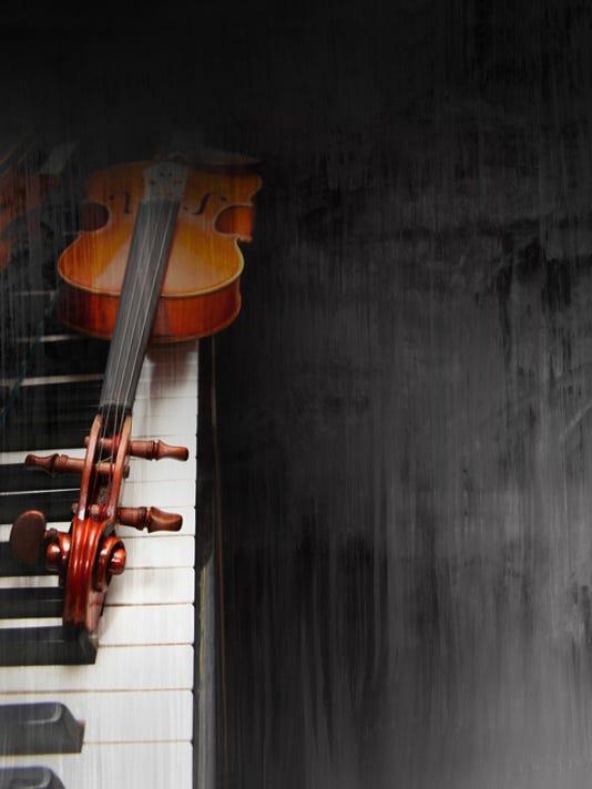 Violin on the piano