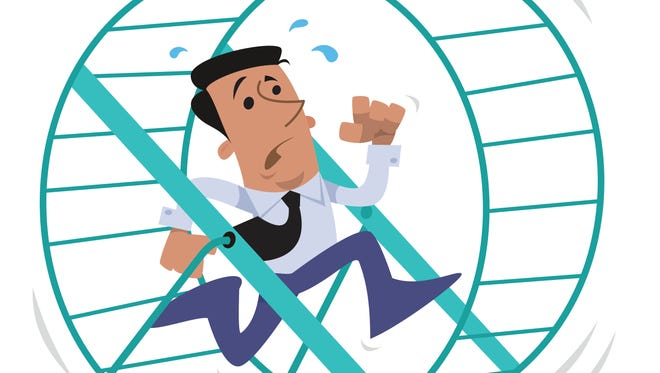 How do we get off life's hamster wheel? Here are 5 tips.