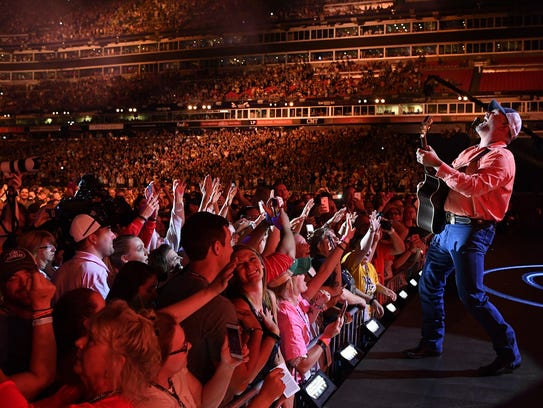 Garth Brooks performs at Nissan Stadium on the first