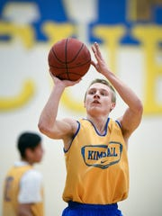 Kimball guard Darius Westrich makes a free throw during
