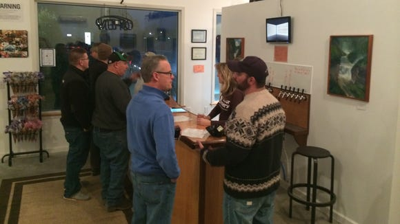 Opening night at the Victor Brewery, now The VB Brewery.