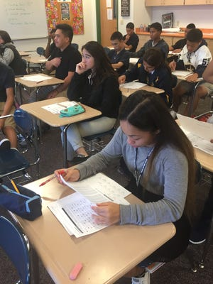 In this file photo, Guam High School students study in an SAT prep class. A recent study shows students learn better in the later hours of the day.