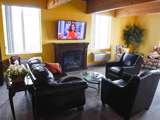 A large comfortable family room is part of the new Wildwood Assisted Living shown Thursday, March 16, in Sauk Rapids.