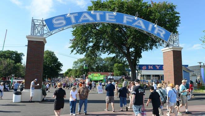 Visitors to the Minnesota State Fair can enter through a restored 1930s-era streetcar arch.