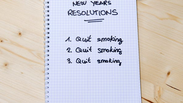 New Years Resolution list of a smoker