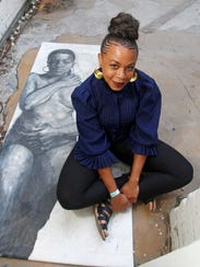 Detroit artist Sydney James her with multimedia work