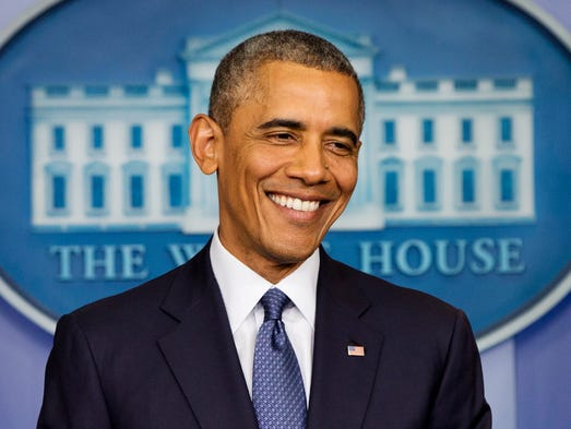President Obama turns 53 on Monday. USA TODAY Network looks back at Obama's year with an image from each week.